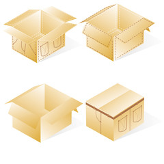 boxes, cardboard  for jeans or pants packing, set with denim lin