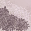 Vintage vector background with chrysanthemums