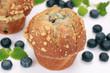 Frische Blaubeer-Muffins