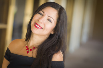 Attractive Hispanic Woman Portrait Outside