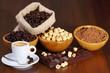Caffè ,cacao,nocciole e cioccolato
