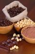 Barra di cioccolata e caffè