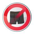 slip / maillot de bain interdit - nudisme