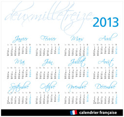 2013 FRANCE SCRIP HORIZONTAL AZUL
