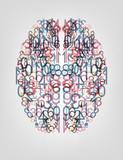 Number  background. Digital brain - 46009933