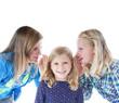 Drei Mädchen – Flüstern ins Ohr