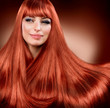 Healthy Straight Red Hair. Extension