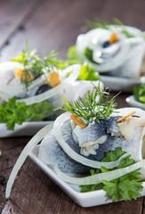 Herring Filet on small plates