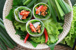 Fresh Chinese Traditional Spring rolls food