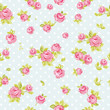 Seamless wallpaper pattern with pink roses