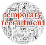 Temporary recruitment concept poster