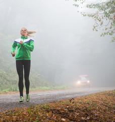 girl jogging