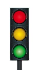 Vektor Ampel dreifarbig