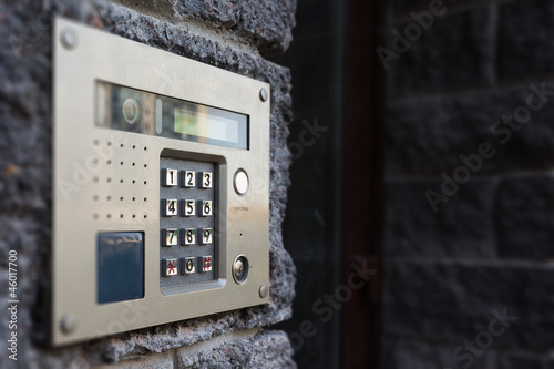 Close-up of building intercom - 46017700