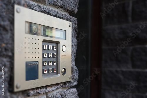 canvas print picture Close-up of building intercom