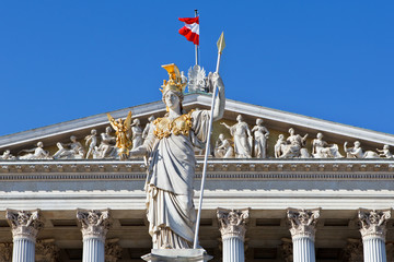 Front side of the Austrian parliament building