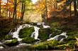 Fototapeten,herbst,wald,Wasserfall,berg