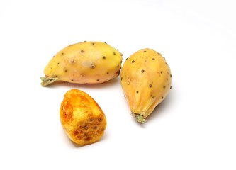 Prickly pears on white background