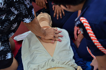 perform CPR and first-aid on people