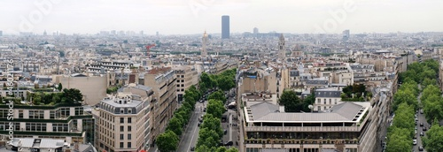 Paris city view from Arc de triomphe