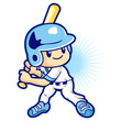 Hitter in a baseball game, Sport Games Character Design
