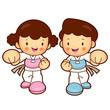 Taekwondo exercise in boys and girls. Taekwondo is a Korean mart