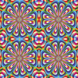 Seamless arabesque mosaic in art deco style