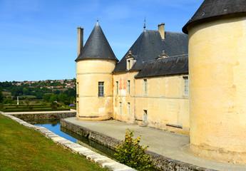 Chateau de Bussy-Rabutin, Bourgogne, Frankreich