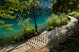 A path for tourists in Plitvice Lakes National Park, Croatia
