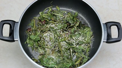 cooking pot-herbs