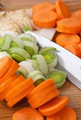 frisch geschnitten - gemüse