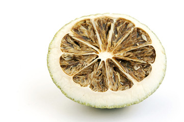 Closure view of dried lemon