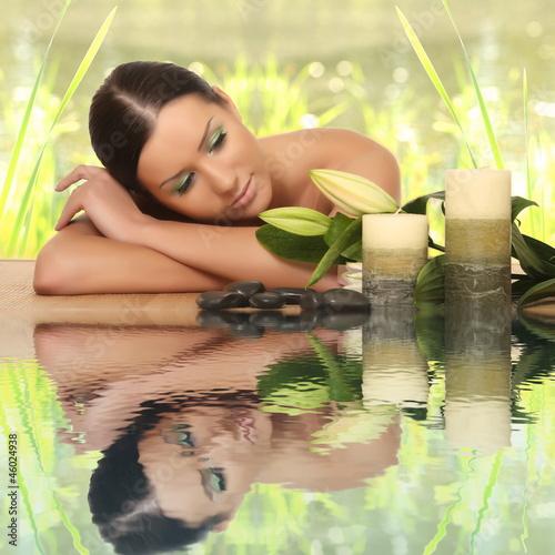Fototapeten,aroma,attraktiv,rücken,bambus