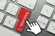 Now hiring. Hand. Keyboard key