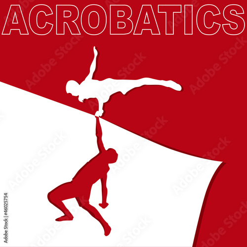Applique on acrobatics