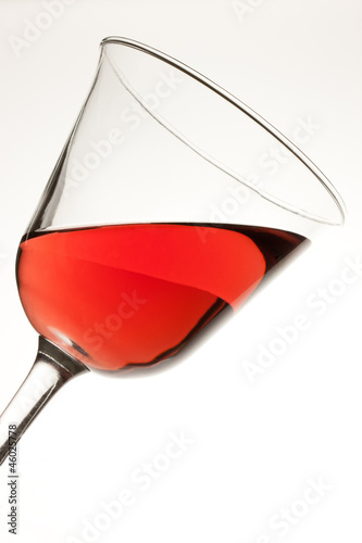 Red Wine in Tilted Glass