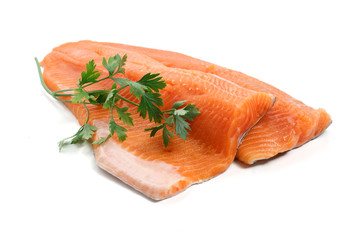 filetto di trota salmonata - trout fillet with parsley