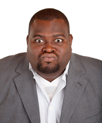 African American Businessman Angry about Something