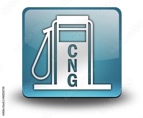 "Light Blue 3D Effect Icon ""Fuel Dispenser - CNG"""