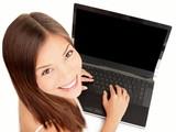 Laptop woman