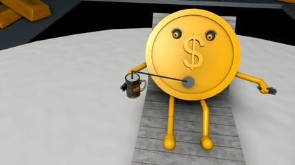 Money on deposit in safe