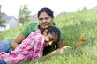 Loving mother daughter enjoying in park