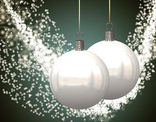 Ilustracion con Tarjeta de felicitacion navidad