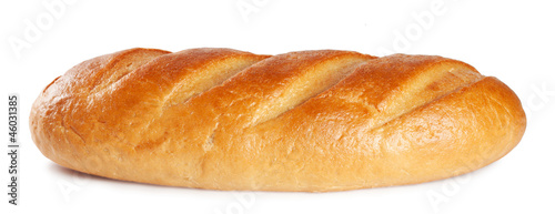 Fresh sweet white bread isolated on a white background