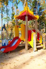 Children playground on a sunny day