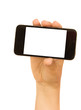hand holding a modern smartphone