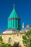 Mevlana - sacred sufi center in the center of Konya, Turkey poster
