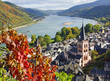 canvas print picture - Bacharach am Rhein