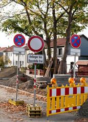 Anlieger bis Baustelle frei - Strassenbau