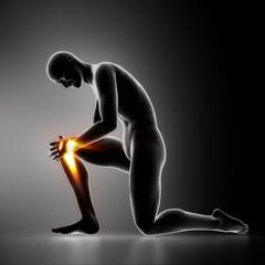 Injury knee concept